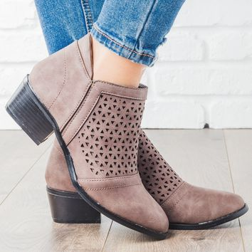 Laser Cut Ankle Boot