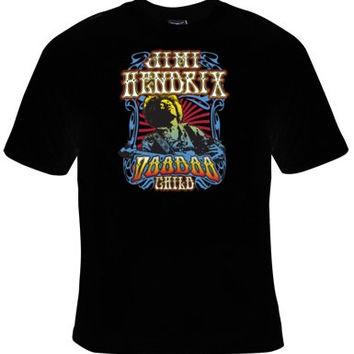Classic JIMMY HENDRIX Tee, VOODOO Child Graphic Tee, Great Gift For Men And Women