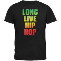 Long Live Hip Hop Black Adult T-Shirt