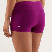 """lululemon"" Fashion Print Exercise Fitness Gym Yoga Running Tight Elastic Shorts (7-color)"