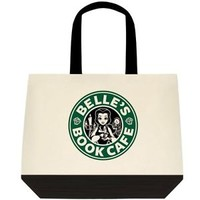Starbucks Disney Inspired Belle Beauty and the Beast Tote Bag Purse Grocery Shop
