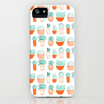cacti pattern iPhone & iPod Case by Maya Bee Illustrations