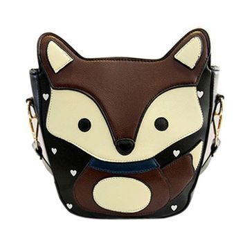 Fox Pattern Crossbody Bag