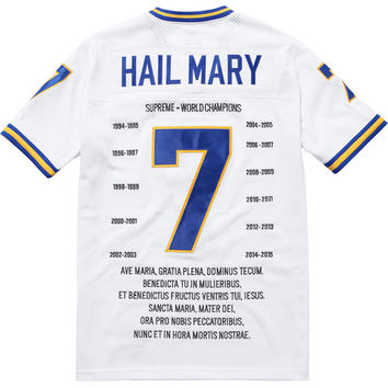 Supreme: Hail Mary Football Top - White