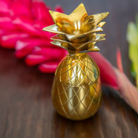 Pineapple Shot Glass - Gold