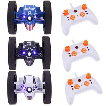 RC Car Bounce Car RH803 2.4G Remote Control Toys Jumping Car with Flexible Wheels Rotation LED Night Light RC Car Gift