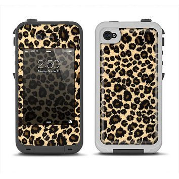 The Small Vector Cheetah Animal Print Apple iPhone 4-4s LifeProof Fre Case Skin Set