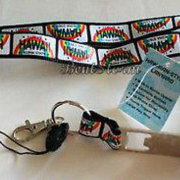 Licensed cool ALOHA Hawaii Lanyard Key Holder Phone FOB Bottle Opener Quick Release Keychain