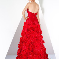 Floral Applique Special Occasion Gown, Style 173030