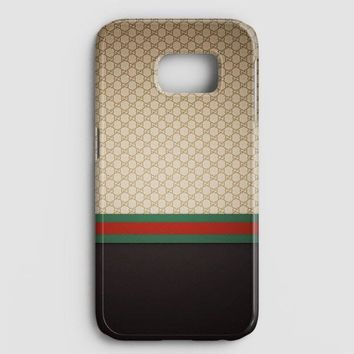 Gucci Designer Label Patterns Wall Samsung Galaxy S7 Case