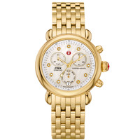 Michele CSX-36 Diamond Watch - Gold Watch - ShopBAZAAR