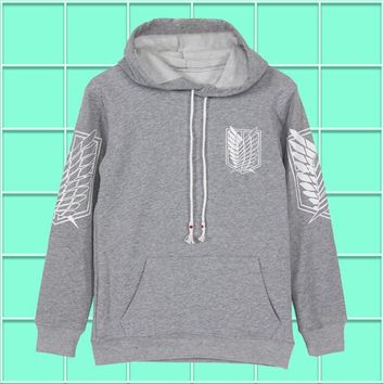 Cool Attack on Titan Anime  Suvery Corp Scouting Men Women Boys Pullover Swet shirt Hoodie Winter Cotton Warm Cosplay Long Sleeve AT_90_11