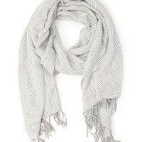 Tasseled Two-Tone Scarf