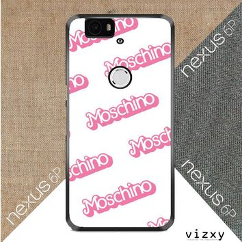 moschino pattern Z5297 Huawei Google Nexus 6P Case