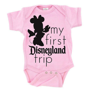 Minnie Mouse  Disneyland  My First by DearlyLovedBoutique on Etsy