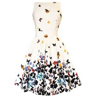 Lady Vintage Butterfly Tea Dress | Classic Retro Design