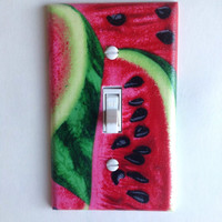 Watermelon Single Toggle Switchplate, decor switch plate