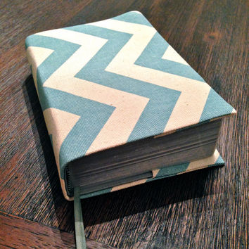 Revised NWT Bible Cover - Blue Chevron