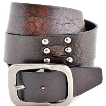 Anzell Snap-On Oil Tanned Vintage Leather Belt