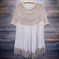 Final Sale - Desert Wanderer Knit Tunic in Khaki