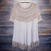 final sale - desert wanderer knit tunic - mocha