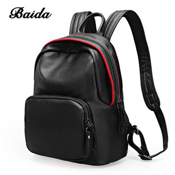 BAIDA 2017 Women Backpacks Fashion PU Leather Lady Backpacks High Quality Fashion Girls Backpacks Cute School Bag