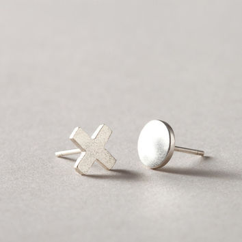 Xo Stud Earrings - Silver