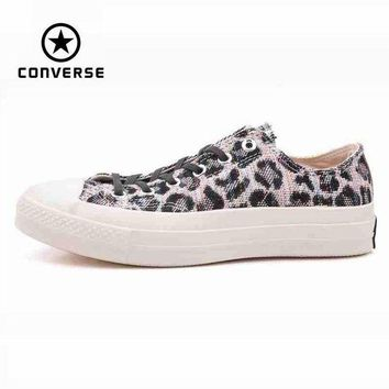 VONR3I Original Converse all star men's leopard print sneakers canvas shoes for men low class