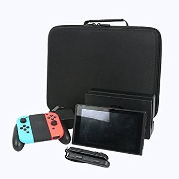 for Nintendo Switch Hard Storage Case fits Joy-Con/Power Adapter/Dock/Grip by CO2CREA