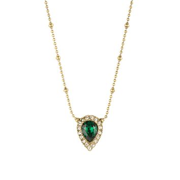 JAMIE NECKLACE IN GOLD EMERALD