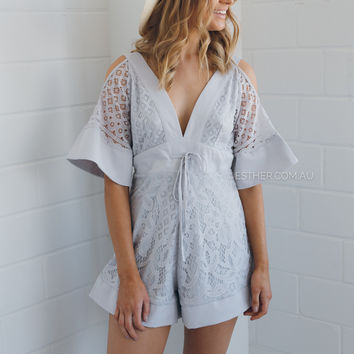 pippa playsuit - grey