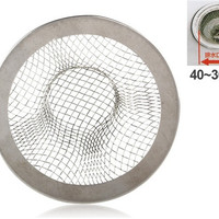 JM-8103 Garbage Strainer for 40-30mm Diameter Drain Outlets (Silver)