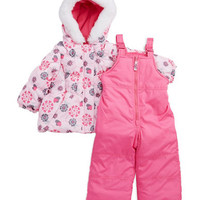London Fog Baby Girls Two Piece Snow Suit