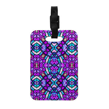 """Art Love Passion """"Kaleidoscope Dream Continued"""" Purple Pink Decorative Luggage Tag"""