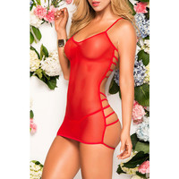 On Sale Hot Deal Cute Stylish Sexy Spaghetti Strap V-neck Sleeveless Backless Lace Dress Exotic Lingerie [6596718083]