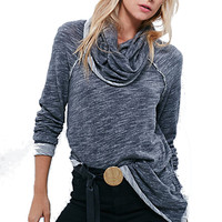 Free People Women's Beach Cotton Cowl Neck Pullover