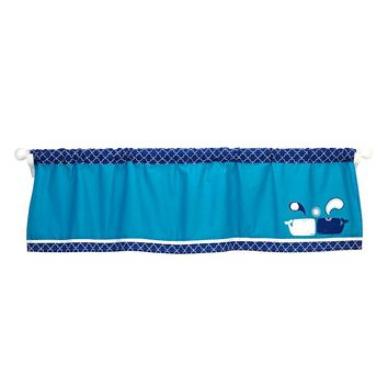 Happy Chic by Jonathan Adler Party Whale Window Valance (Blue)