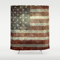"""Old Glory"", The Star-Spangled Banner Shower Curtain by Bruce Stanfield"