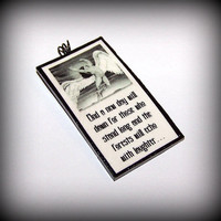 Handmade Polymer Clay Led Zeppelin Swan Song Stairway To Heaven Lyrics Pendant