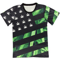 3D Flag Weed T-Shirt