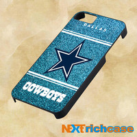 NFL Dallas Cowboys Blue Glitter Sparkle for iphone, ipod, ipad and samsung galaxy case