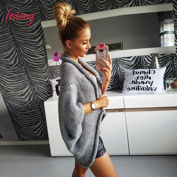New Autumn Winter Women Loose Sweaters And Pullovers Jumper Knitwear Ladies Knitting Cardigan Jacket Outwear Coat 2018