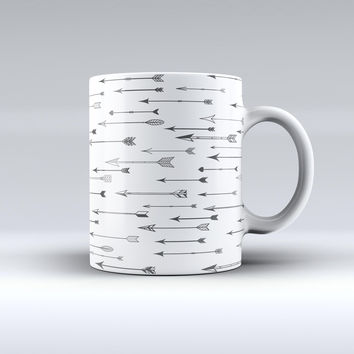 The Hipster Arrow Pattern ink-Fuzed Ceramic Coffee Mug