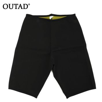 OUTAD Unisex Slimming Yoga Shorts Body Shapers Fitness Sweat Shorts Weight Loss Burn Fat Super Stretching Shorts Neoprene