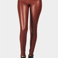 Nicolet High Legging - Burgundy  at Necessary Clothing