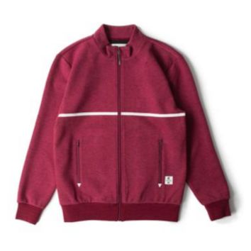 Crooks And Castle Rocket Track Jacket In Burgundy