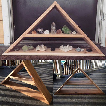 Large Triangle Crystal Meditation Display Shelf