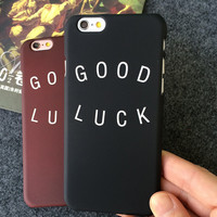 GOOD LUCK iPhone 7 se 5s 6 6s Plus Case Cover +Gift Box 286
