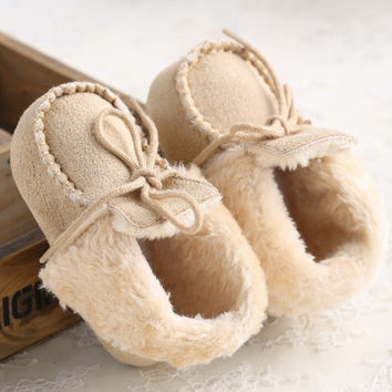 Baby Prewalker Shoes Unisex Kids Babe Super Winter Newborn Baby Boots Infant Toddler Soft Soled Solid First Walker Shoes = 1946349060