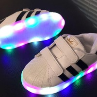 1-6 Ages Kids unisex Lightning Led Sneaker Sport Casual Shoes